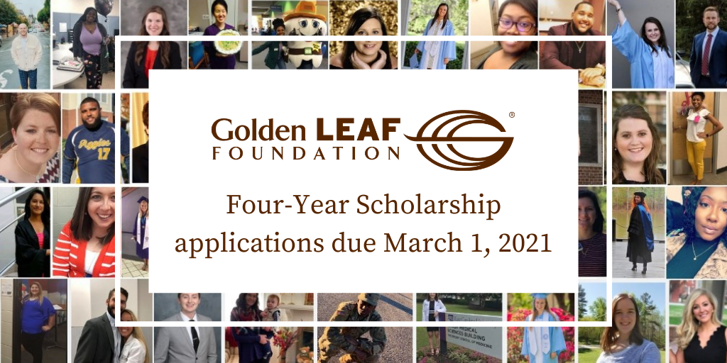March 1 deadline fast approaching for Four-Year Golden LEAF Scholarship applications