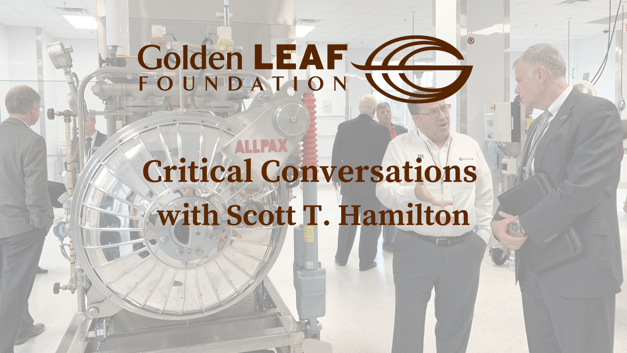 Critical Conversations with Scott T. Hamilton featuring Richard Linton, Dean of the College of Agriculture and Life Sciences at N.C. State