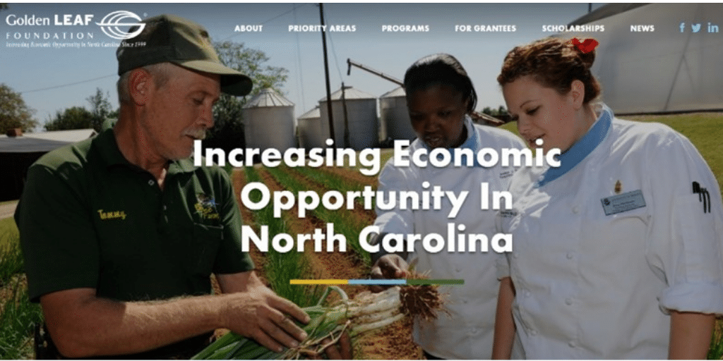 Golden LEAF revamps website to improve outreach, enhance user experience, move economic needle